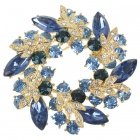 Multicolour Garland Austrian Crystal Pin Brooch (London Blue) (Clothing Accessories Category)