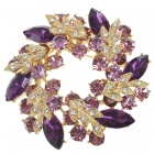 Multicolour Garland Austrian Crystal Pin Brooch (Amethyst) (Clothing Accessories Category)