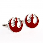 GO816 Alliance Star bird Plating Enamel Cufflinks -- Silver Plus Red (Pairs) (Clothes and Shoes Category)
