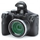 BO-QY IP146 3.0 Inches TFT 14MP CMOS 10X Optical Zoom Digital Camera with SD Slot / USB -- Black (Digital Cameras Category)
