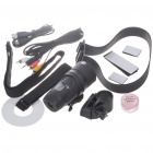 Sporty Waterproof 1.3M Pixel CMOS Vehicle Mount Video Recorder / Camcorder with AV / SD (2 x AA) (Digital Cameras Category)