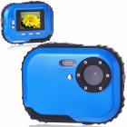 "Waterproof 3.0MP CMOS Compact Digital Camera with 8X Digital Zoom / TF Slot Blue (2xAAA / 1.8"" LCD) (Digital Cameras Category)"