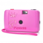 YY132 ABS 28 millimetres Focus Free Camera with Strap -- Deep Pink (No Battery Needed) (Digital Cameras Category)