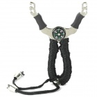 Durable Titanium Alloy Hunting Slingshot Catapult with Compass / 5 Balls (Camping & Outdoors Category)