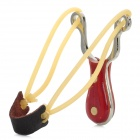 GW111 Stainless Steel Outdoor Slingshot -- Silver Plus Brown (Camping & Outdoors Category)