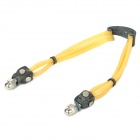 TK842 Steel Ball Powerful 3-Strips Elastic Rubber Band for Slings- Yellow (Camping & Outdoors Category)
