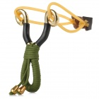 SO157 Stainless Steel Outdoor Slingshot -- Green Plus Golden Plus Black (Camping & Outdoors Category)