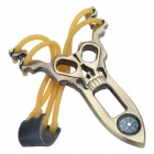 IN932 DA-MOFENGLANG-GD Ghost Head Zinc Alloy Slings with Compass -- Copper (Camping & Outdoors Category)