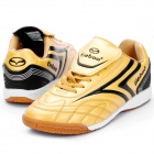 Indoor Football Soccer Shoes Golden Plus Black (Size 41 / EU) (Soccer Category)