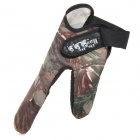 ZX618 dade-hua Professional Fishing Double Finger Anti-slip Glove -- Camouflage (Fishing Gear Category)