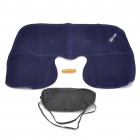 3 in 1 Inflatable Pillow Plus Sleeping Eyeshade Plus Earplug Travel Set Deep Blue Plus Black Plus Orange (Travel Accessories Category)