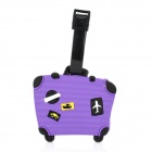 Suitcase Shape Secure Travel Suitcase ID Luggage Tag Purple (Travel Accessories Category)