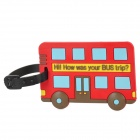 JL781 Bus Travel PVC Bag / Luggage Tag with Strap -- Red Plus Black (Travel Accessories Category)
