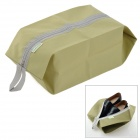 NO547 WE-LLHOUSE-GD Outdoor Traveling Portable Shoes Carrying Bag with Zipper -- Dark Khaki (Travel Accessories Category)