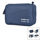 WE-LLHOUSE-GD NP419 Nylon Zipper Wash Bag -- Dark Blue (Travel Accessories Category)