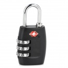 JU-ST-GD PB854 Zinc Alloy Security 3-Digit Pin Combination Padlock -- Black Plus Silver (Travel Accessories Category)