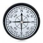 Outdoor Camping Travel Portable Compact Compass Black Plus White (Compasses & Thermometers Category)