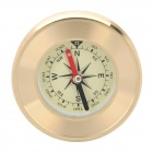Hiking Camping Copper Alloy Compass Golden (Compasses & Thermometers Category)