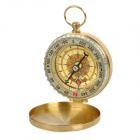 LA217 Aluminium Alloy Glow-in-the-Dark Compass with Keychain -- Golden Yellow (Compasses & Thermometers Category)