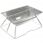 Portable Folding Stainless Steel BBQ Barbecue Grill Set (Size L) (Camping & Outdoors Category)