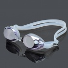 LIPHS Silicone Strap PC Lens Swimming Goggle Glasses with Ear buds / Nose Bridges Purple (Swimming Accessories Category)