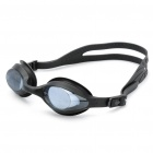 LIPHS Silicone Strap PC Lens Swimming Goggle Glasses with Ear buds Black (Swimming Accessories Category)