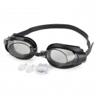 BZ176 3 in 1 Standard Wide View Swim Goggles Set -- Black (Swimming Accessories Category)