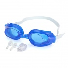 IR342 3 in 1 Standard Wide View Swim Goggles Set -- Blue (Swimming Accessories Category)