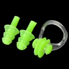 MT373 Swimming Nose Clips Plus Silicone Earplugs Set -- Fluorescent Green (Swimming Accessories Category)