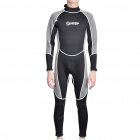 Fashion Long Sleeves Surfing Suit Black Plus Grey (Size L) (Swimming Accessories Category)