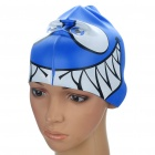 Fish Shaped Swimming Cap Blue (Swimming Accessories Category)