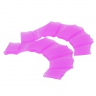 JB443 Silicone Swimming Gear Training Webs Gloves- Transparent Purple (Size-L / Pair) (Swimming Accessories Category)