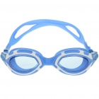 PC Lens Swimming Goggle Glasses with Carrying Box Blue Plus White (Swimming Accessories Category)