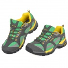 Has-ky KJ306 Outdoor Climbing Hiking Shockproof EVA Shoes -- Grey Plus Green Plus Yellow (Size 41) (Shoes Category)