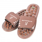 Ka-ngWang-GD EW216 Jade Magnetic Therapy Foot Massage Shoes -- Chocolate (Size 43) (Clothes and Shoes Category)