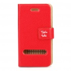 Protective PU Flip case for iPhone 4 Red (Cases & Protectors Category)