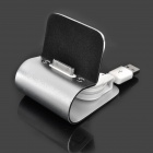 USB Charging Docking Station for iPhone 4 Silver (Docking Stations & Cradles Category)
