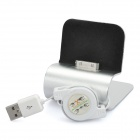 USB Charging Docking Station for iPhone 4 / 4S Silver (Docking Stations & Cradles Category)
