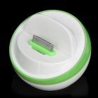 OE121 Half Ball Shaped USB Sync / Charging Docking Station Cradle for iPhone 4 / 4S -- Green Plus White (Docking Stations & Cradles Category)