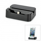 MT442 8-pin Lightning Charging Dock Station with Holder Plus USB Cable for iPhone 5 -- Black (Docking Stations & Cradles Category)