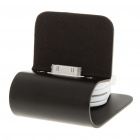 Aluminium Alloy USB Charging Stand with Retractable Cable for iPhone 4 Black (Docking Stations & Cradles Category)