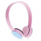 NJ558 Fashionable Wired Stereo Headset for iPod / iPhone / iPad -- Pink Plus Blue (3.5 millimetres Plug) (Earphones Category)