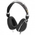 Ka-nen QN985 Headphones with Cable Control / Microphone for iPhone / iPad -- Black (Earphones Category)