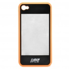 2 in 1 3D Movie Watching Case Protective Back Case for iPhone 4 Orange Plus Black (Mobile Phone Plastic Cases Category)