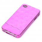 Electroplating Protective PC Back Case for iPhone 4 Purplish Red (Mobile Phone Plastic Cases Category)