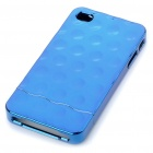 Electroplating Protective PC Back Case for iPhone 4 Blue (Mobile Phone Plastic Cases Category)