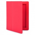 Protective PU Leather Case with Smart Cover for iPad 2 / New iPad Red (Mobile Phone Leather Cases Category)