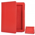 Protective Leather Case for The New iPad Red (Mobile Phone Leather Cases Category)