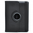 Protective 360 Degree Rotation Holder Leather Case for the New iPad Black (Mobile Phone Leather Cases Category)