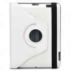Protective 360 Degree Rotation Holder Leather Case for the New iPad White (Mobile Phone Leather Cases Category)